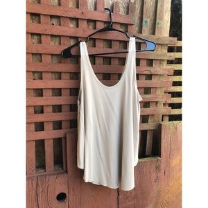 ⬇️ Lush Taupe Flowy Tank Top Size S